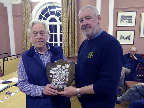 Dave picks up the shield for Detectorist of the year!